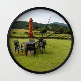 A Table with a View Wall Clock
