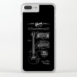 Gibson Les Paul Guitar Patent Drawing 1955 - Blueprint - Music Clear iPhone Case
