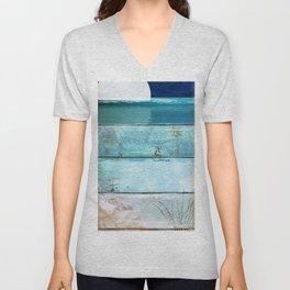 Beach Moonrise Unisex V-Neck