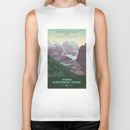 Yoho National Park Poster Biker Tank