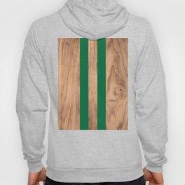 Wood Grain Stripes - Green #319 Hoody