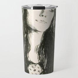 "Edvard Munch ""The Brooch. Eva Mudocci"", 1903 Travel Mug"