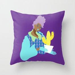 Cactus Caretaker Throw Pillow