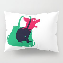 Angry animals: chihuahua - little green bag Pillow Sham