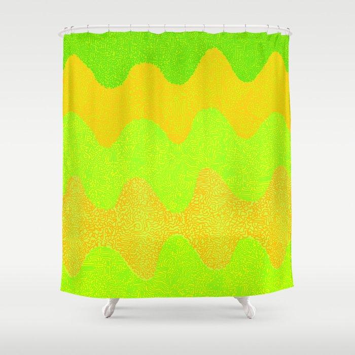 Under the Influence (Marimekko Curves) Melons Shower Curtain by ...