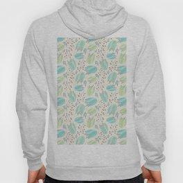 Ivory mint teal modern floral berries illustration Hoody