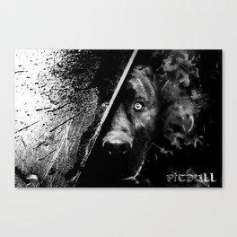 The dog (B&W) Canvas Print