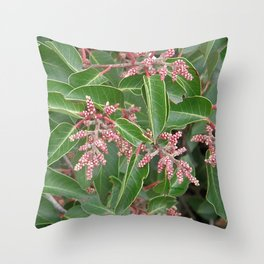 TEXTURES - Manzanita in Drought #1 Throw Pillow