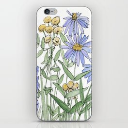 Asters and Wild Flowers Botanical Nature Floral iPhone Skin