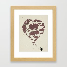 Picking up the Pieces Framed Art Print