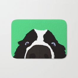 Begging Border Collie Bath Mat
