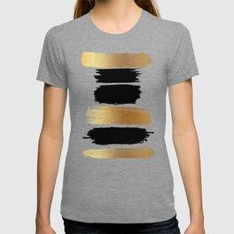 Brush Strokes (Black/Gold) T-shirt