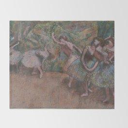 Edgar Degas - Ballet Scene Throw Blanket