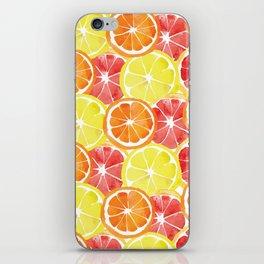 Grapefruit Lemon Orange Pattern iPhone Skin