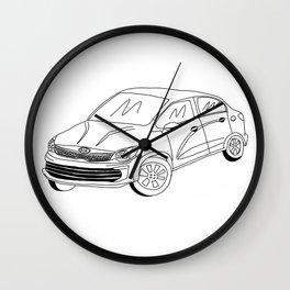 My Friends' Cars - Kia Rio Wall Clock