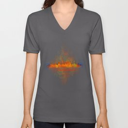 Barcelona City Skyline Hq _v4 Unisex V-Neck
