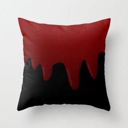 Blood Dripping Throw Pillow