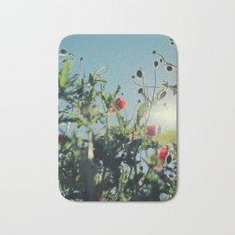 poppy flower no14 Bath Mat