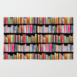 Christmas Antique Book Library for Bibliophile.bookworm, book lover, library, teachers , students, Rug