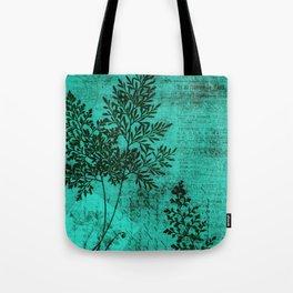 Botanical Turquoise Tote Bag