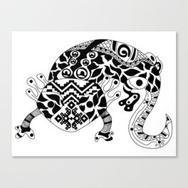 Ajolote Ecopet Canvas Print