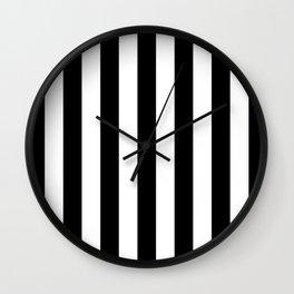 Vertical Stripes (Black/White) Wall Clock