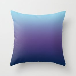 Ombre Blue Ultra Violet Gradient Pattern Throw Pillow