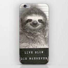 Sloth in a Mugshot iPhone Skin
