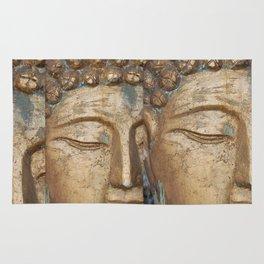Golden Faces Of Buddha Rug
