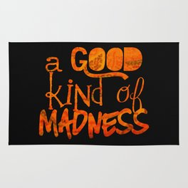 A Good Kind of Madness | Typography on Life and People Rug