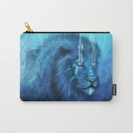 Blue Spirit Lion Carry-All Pouch