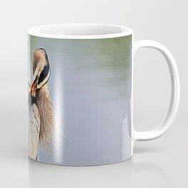 Heron Having a Bath I Coffee Mug
