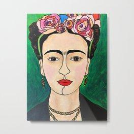Frida Khalo Portrait Metal Print