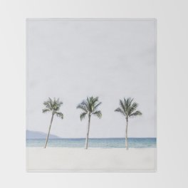 Palm trees 6 Throw Blanket
