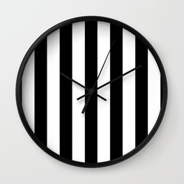 Stripes Black And White Wall Clock