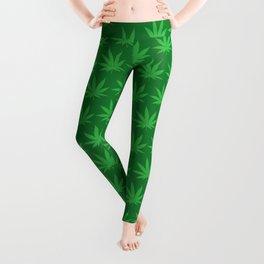 Marijuana Pattern Leggings