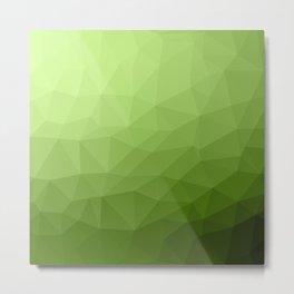 Greenery ombre gradient geometric mesh Metal Print