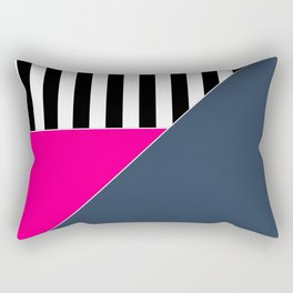 Asymmetrical patchwork 1 Rectangular Pillow