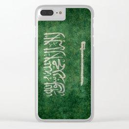 Flag of  Kingdom of Saudi Arabia - Vintage version Clear iPhone Case