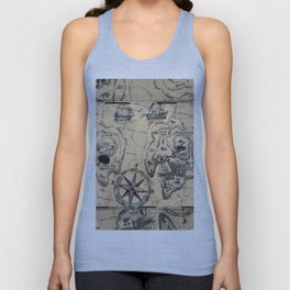 Old Nautical Map Unisex Tank Top