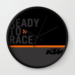KTM Black Wall Clock