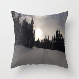 Earning Turns Throw Pillow