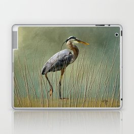 Great Blue At The Beach Laptop & iPad Skin