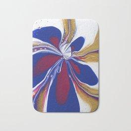 Floral Fluidity - Abstract, acrylic, fluid, painting Bath Mat