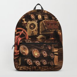 battleship engine room historic war Backpack