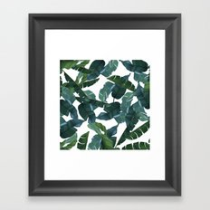 Banana Leaf Decor #society6 #decor #buyart Framed Art Print
