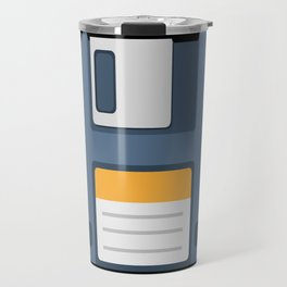 Old School Computer Floppy Diskette Travel Mug
