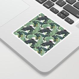 banana leaf pattern Sticker