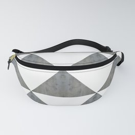 Cement White Triangles Fanny Pack