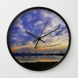 The Docks (Digital Art) Wall Clock